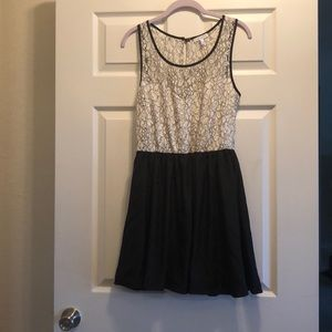 Delia's Black and White Dress With Lace Details